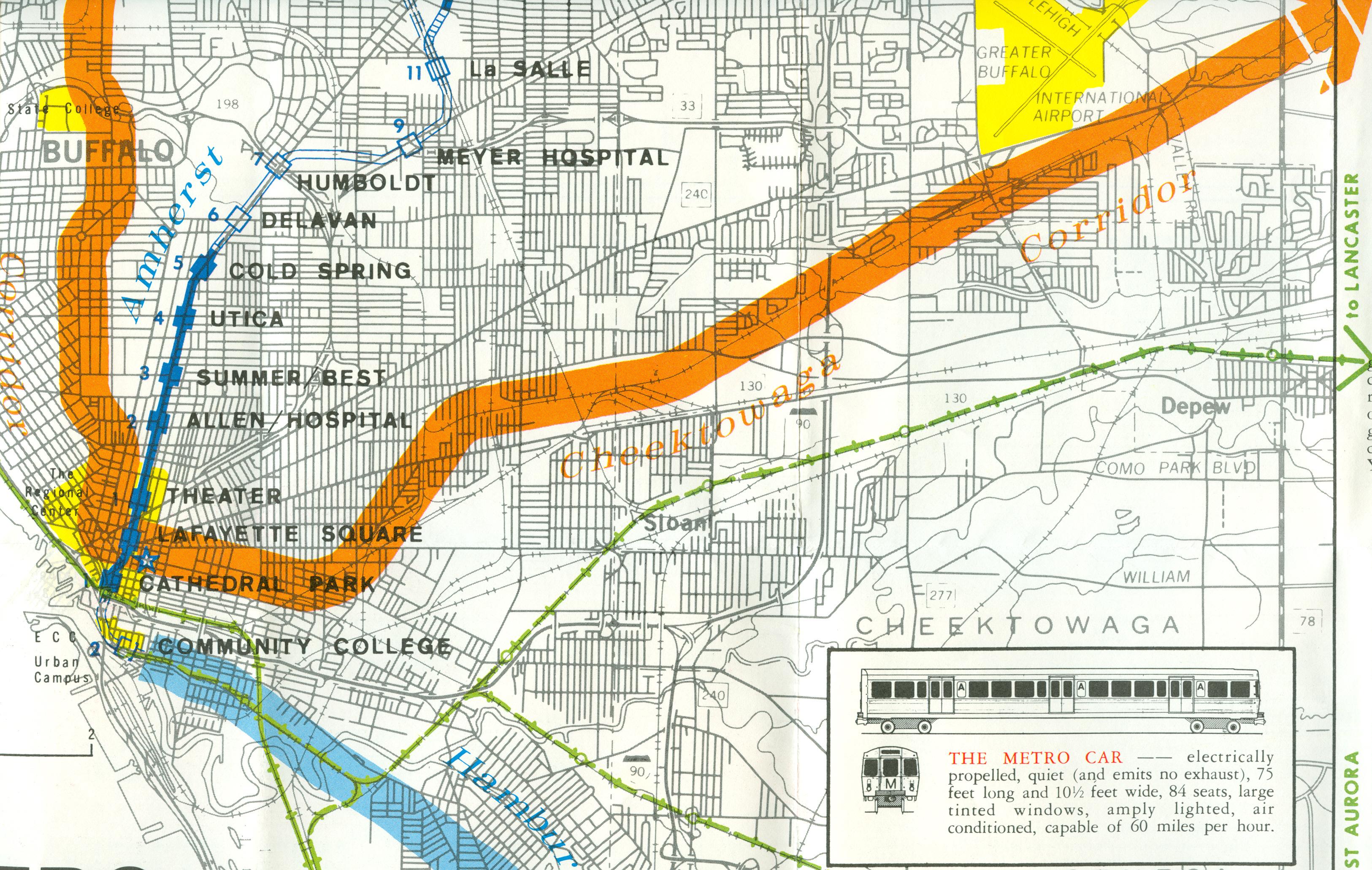 Buffalo Subway Map.Forgotten Buffalo Featuring Buffalo Metro Rail 1973