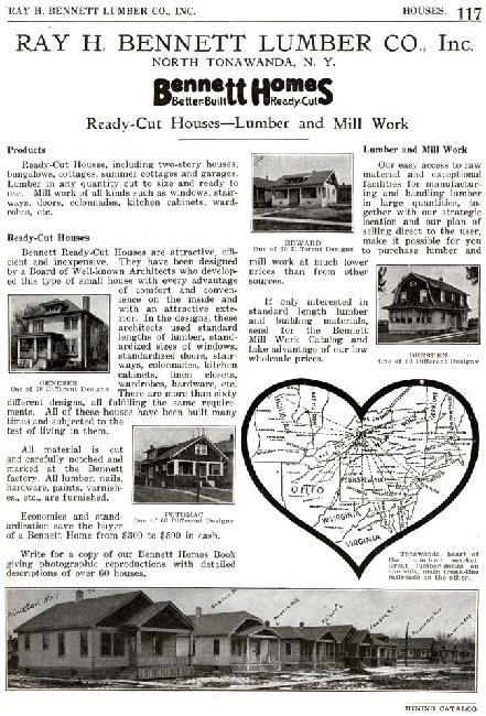 "1921 Ray H. Bennett Lumber Co. Ad. Note ""Dresden"" located right center."