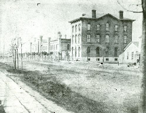 Circa 1860: Earliest known picture of the Buffalo Gas Light Works