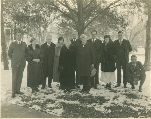 Members of the Hyde Family. At center is Mentholatum founder A. A. Hyde and his wife Ida Elizabeth Todd.