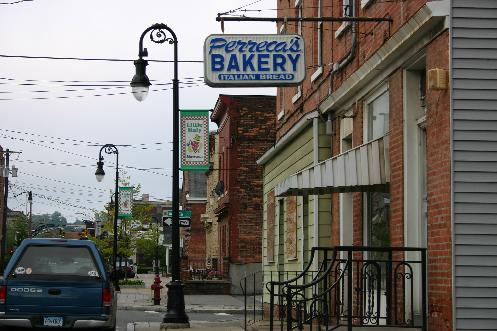 "Schenectady's Perreca Bakery (33 N Jay Street) is just the type of ""off-the-beaten"" path joint that ForgottenBuffalo.com loves. Located in the ""Electric City's"" Little Italy neighborhood, Perreca's brick oven bread is made the old-fashion way."