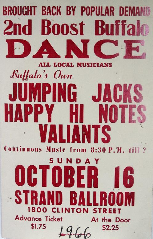1966, Jumping Jacks, Happy Hi Notes, Valiants, Buffalo
