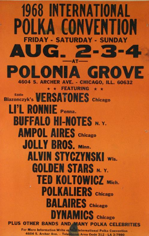 1968, Polka Convention, Polonia Grove, Chicago