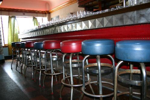 Empty Bar Stools - Our Grill, Amherst Street, Buffalo - Closed 1994