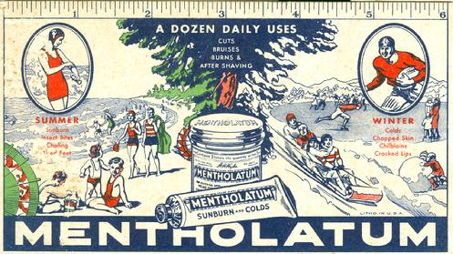 1930's ad card from Mentholatum