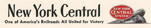 Click image above to view vintage WWII ads from the New York Central Railroad