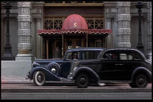 Image from film: Ellicott Square Building used as location for New York and Chicago Hotel scenes (1983)
