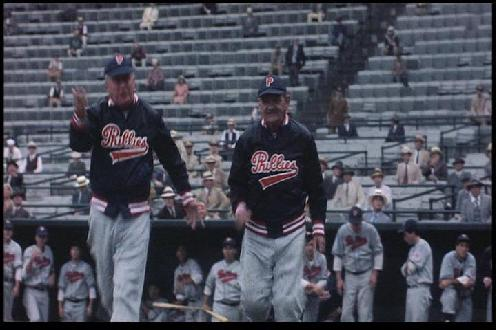 Mayor Jimmy Griffin was rewarded for his willing to assist the production of the Natural with a cameo roll in the film. In a scene were Roy Hobbs hits the casing off the baseball, Griffin (right) plays a coach of the opposing team.