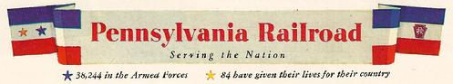 Click image above to view vintage WWII ads from the Pennsylvania Railroad