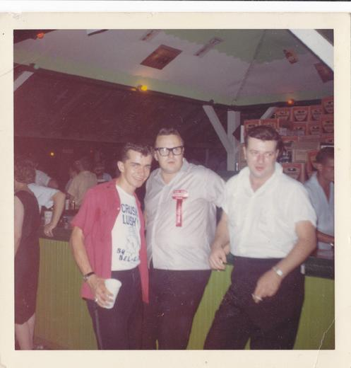 Richie Sendra, Eddie Blazonczyk and Chet Kowalkowski at an unnamed Buffalo Lawn Fete
